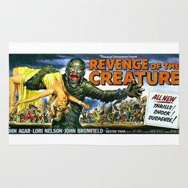 Revenge of the Creature, vintage horror movie poster, landscape Rug