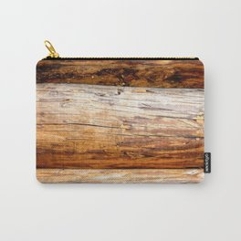 Wooden Log Wall Of A Vintage Cabin Carry-All Pouch