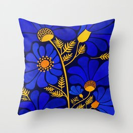 Wildflower Garden Throw Pillow