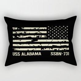 USS Alabama Rectangular Pillow