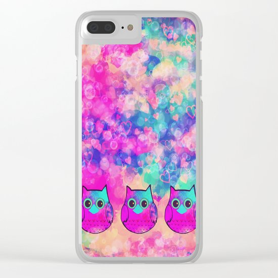 owl-445 Clear iPhone Case