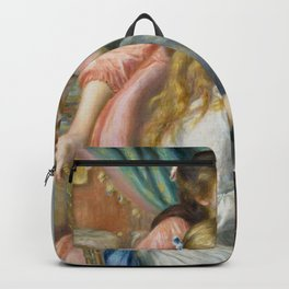 Two Young Girls at the Piano Backpack