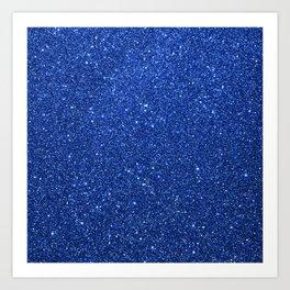 Cobalt Blue Glitter Art Print