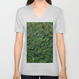 Arial tropical forest Unisex V-Neck
