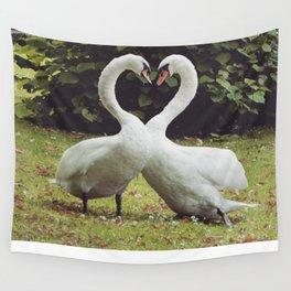 swan love Wall Tapestry