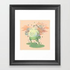 Frog Fungi Framed Art Print
