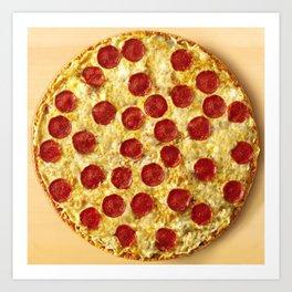 Who Wants Pizza? Art Print