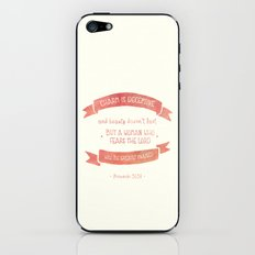 Prov 31:30 A woman to be greatly praised iPhone & iPod Skin