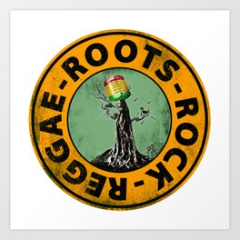 Roots - Rock - Reggae. Art Print
