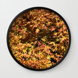 Japanese Maple Fall Leaves Wall Clock