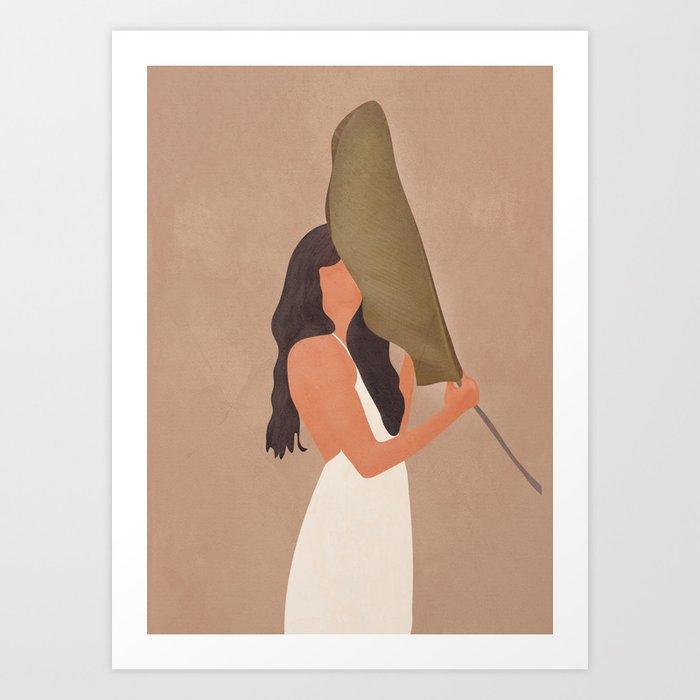 Shade of a Leaf Art Print