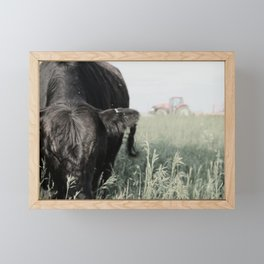 Evening in the Pasture Framed Mini Art Print
