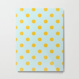 Sunny Dots Metal Print