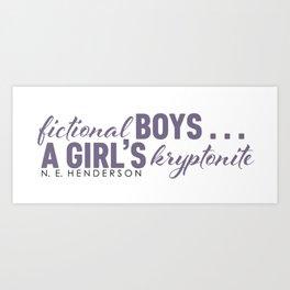 Fictional Boys . . . Art Print