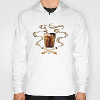 cigarettes Hoodies featuring Cigarettes and Chocolate Milk by Brittany W-Smith
