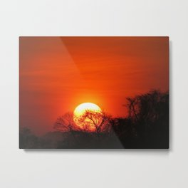 Costa Rican Sunset Metal Print