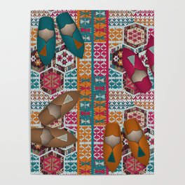 Kilim & Babouches Poster