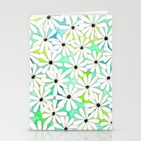 daisies Stationery Cards featuring Daisies by messy bed studio
