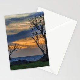 Sunset Scene at Waterfront Boardwalk, Montevideo Uruguay Stationery Cards