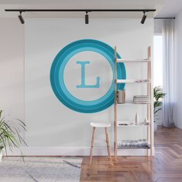 Blue letter L Wall Mural