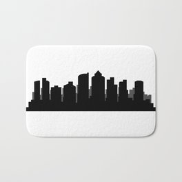 Boston skyline Bath Mat