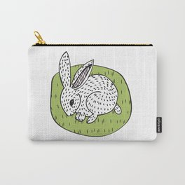 Rabbit on the Green Carry-All Pouch