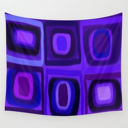 Violets in Blue Windows Wall Tapestry
