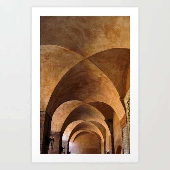 Symmetrical ceiling in Rome. Art Print