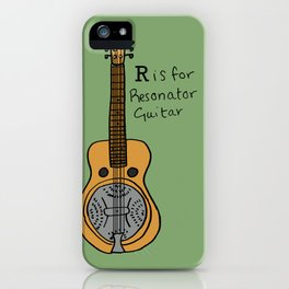R is for Resonator Guitar iPhone Case