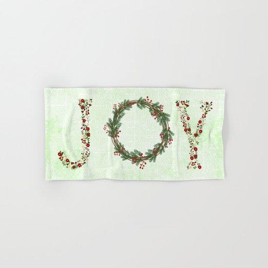 Joy Wreath #3 Hand & Bath Towel