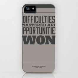 Difficulties iPhone Case