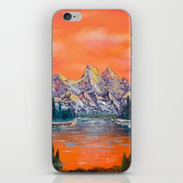 Mountains landscape at sunset iPhone Skin