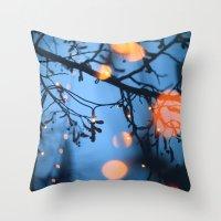 fireflies Throw Pillows featuring Fireflies by Den Brooks