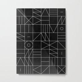 My Favorite Geometric Patterns No.9 - Black Metal Print