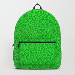 Wild Thing Acidic Green Leopard Print Backpack