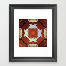 Vintage Tiles: Red Framed Art Print