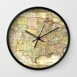 Vintage United States Map Wall Clock