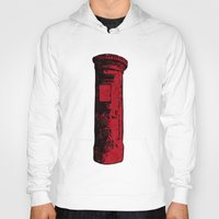 british Hoodies featuring British Postbox by Carrie at Dendryad Art