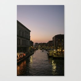 Venice Canal at Dusk Canvas Print