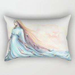 """Imperial Waves"" Watercolour Surrealism Pressure Rectangular Pillow"