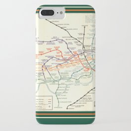 Vintage London Underground Map iPhone Case