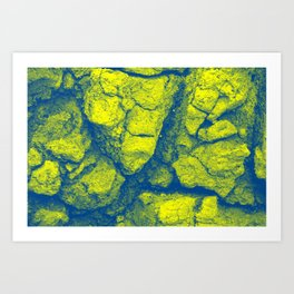 Abstract - in yellow & green Art Print