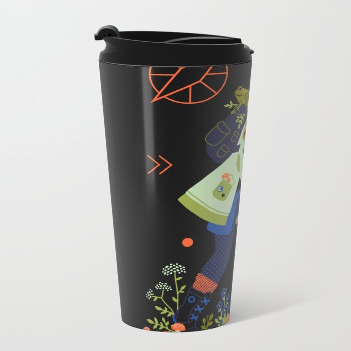 Witch Series: Plants and Herbs Metal Travel Mug