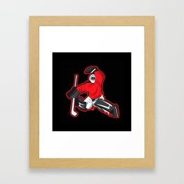 illustration of ice hockey goalie Framed Art Print