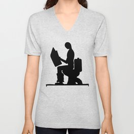 Place for reading Unisex V-Neck