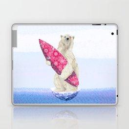 Polar bear & Surf (pink) Laptop & iPad Skin