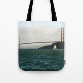 Sailing Under the Golden Gate Bridge Photography Print Tote Bag