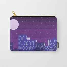 Purple Pixel City Carry-All Pouch