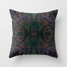 Emerald tree geometry VIII Throw Pillow