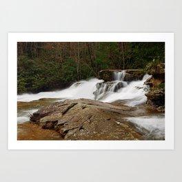 Desktop Wallpapers USA Ohiopyle State Park Pennsylvania Nature Waterfalls Parks park Art Print
